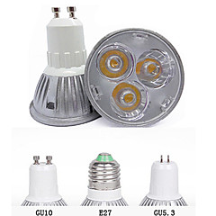 GU10 GU5.3(MR16) E26/E27 Spot LED MR16 3 diodes électroluminescentes LED Haute Puissance Décorative Blanc Chaud Blanc Froid 3000/6500lm