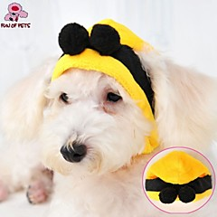 Cat Dog Costume Outfits Bandanas & Hats Dog Clothes Cosplay Wedding Halloween Yellow Costume For Pets