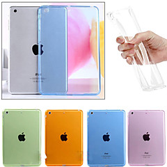 billige Etuier / Covers Til iPad Air 2-Etui Til Apple iPad Mini 4 iPad Mini 3/2/1 iPad 4/3/2 iPad Air 2 iPad Air Transparent Bagcover Helfarve Blødt TPU for iPad Mini 4 iPad