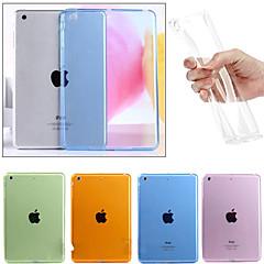 abordables Carcasas y Fundas para iPad Air 2-Funda Para Apple iPad Mini 4 Mini iPad 3/2/1 iPad 4/3/2 iPad Air 2 iPad Air Transparente Funda Trasera Color sólido Suave TPU para iPad