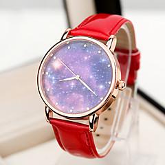 お買い得  レディース腕時計-女性用 ファッションウォッチ クォーツ PU バンド ハンズ ブルー ピンク ダークレッド