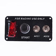 12v motor de un coche de carreras de partida del empuje interruptor de botón del panel de encendido conjunto interruptor accesorio