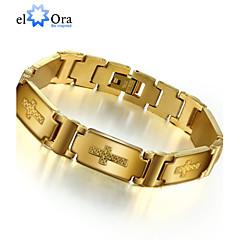 Herre Kæde & Lænkearmbånd Armbånd Unikt design Mode Rustfrit Stål Smykker Guld Smykker For Fest 1 Stk.