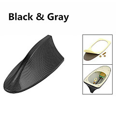 abordables Cobertura para Antenas-Fibra de plástico de aleta de tiburón diseño adhesivo base techo antena decorativa para bmw