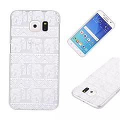olcso Galaxy S6 tokok-Kompatibilitás Samsung Galaxy tok tokok Átlátszó Hátlap Case Elefánt PC mert Samsung S6 edge S6 S5 Mini S5