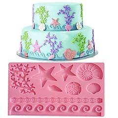 csipke fondant penész torta dekoráció penész véletlenszerű színt fm-09