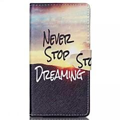 Для Кейс для Sony Кошелек / Бумажник для карт / со стендом / Флип Кейс для Чехол Кейс для Слова / выражения Твердый Искусственная кожа для