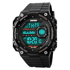 preiswerte Herrenuhren-SKMEI Herrn Sportuhr / Armbanduhr / Digitaluhr Alarm / Kalender / Chronograph Caucho Band Schwarz / Wasserdicht / LCD