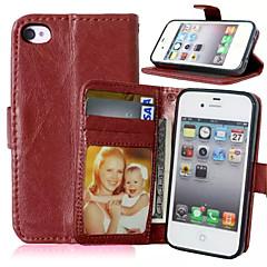 Для Кошелек / Бумажник для карт / со стендом / Флип Кейс для Чехол Кейс для Один цвет Твердый Искусственная кожа для AppleiPhone 7 Plus /