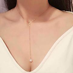 preiswerte Halsketten-Damen Halsketten / Perlenkette - Perle, Künstliche Perle Golden Modische Halsketten Schmuck Für Hochzeit, Party, Alltag