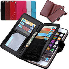 tanie Etui do iPhone 6-Kılıf Na Apple iPhone 8 iPhone 8 Plus iPhone 6 iPhone 6 Plus iPhone 7 Plus iPhone 7 Etui na karty Portfel Flip Pełne etui Solid Color