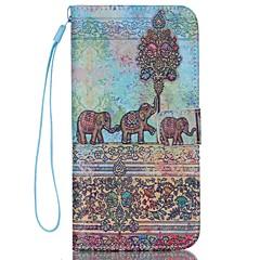 Недорогие Кейсы для iPhone 7 Plus-iphone 7 плюс слон шаблон высокого качества бумажник рука веревка раздел телефона случай для iphone 6 / 6с