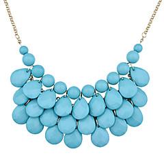abordables Collares-Mujer Collares Declaración - Resina, Chapado en Oro Gota Europeo, Moda Blanco, Azul Gargantillas Para Fiesta, Diario, Casual