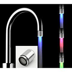 お買い得  蛇口用 LED ライト-led蛇口キッチンledライトウォーター蛇口タップヘッドカラフルな輝きシャワーのストリームバスルーム