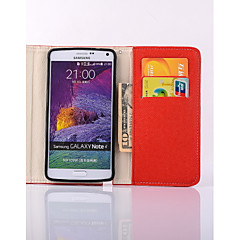Назначение Samsung Galaxy Note Чехлы панели Кошелек Бумажник для карт со стендом Флип Чехол Кейс для Сплошной цвет Искусственная кожа для