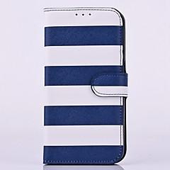 Varten Samsung Galaxy Note Korttikotelo / Tuella / Flip Etui Kokonaan peittävä Etui Linjat / aallot Tekonahka SamsungNote 5 / Note 4 /