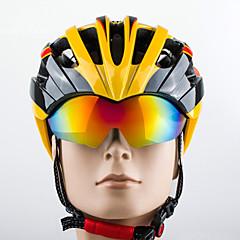 abordables Cascos-PROMEND 27 Ventoleras Peso ligero, Ventilación EPS, ordenador personal Deportes Ciclismo de Pista / Ciclismo Recreacional / Ciclismo / Bicicleta - Negro / amarillo / Negro / naranja / Blanco + gris