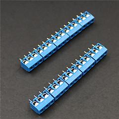 3 pin 5.0mm Klemmen Anschlüsse - Blau (10-teilig)