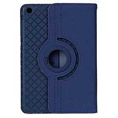 360 Degrees Rotating Grid Pattern PU Leather + TPU Case w/ Stand For iPad Air