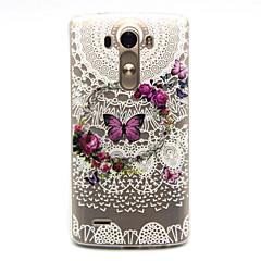 halpa LG kotelot / kuoret-Etui Käyttötarkoitus LG G3 LG LG kotelo Kuvio Takakuori Perhonen Pehmeä TPU varten