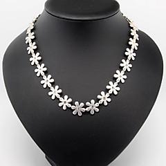 preiswerte Halsketten-Damen Anhängerketten / Ketten / Vintage Halskette - Blume Modisch Silber Modische Halsketten Für Hochzeit, Party, Alltag