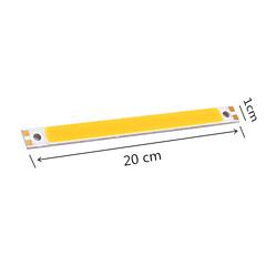 abordables Ledes-youoklight® 6pcs DIY 18w 1700lm 6500K mazorca integrado llevó barra de luz blanca - plata + amarillo (DC12 ~ 14V)