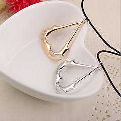 Недорогие Ожерелья-Муж. Жен. Ожерелья с подвесками - Серебряный, Золотой Ожерелье Бижутерия Назначение Повседневные