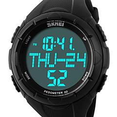 お買い得  メンズ腕時計-SKMEI 男性用 スポーツウォッチ リストウォッチ デジタル 50 m 耐水 アラーム カレンダー PU バンド デジタル ぜいたく ブラック / グリーン - ブラック グリーン / クロノグラフ付き / LCD
