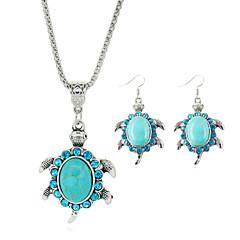 Estilo lindo Turquesa Legierung Azul Collares Pendientes Para Fiesta Cumpleaños Pedida Diario Casual 1 Set Regalos de boda