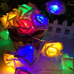 20 lampe rose batterikasse lampe streng
