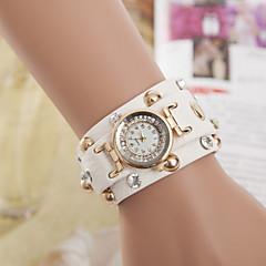 Heren Dames Voor Stel Modieus horloge Armbandhorloge Kwarts Leer Band Zwart Wit Blauw Orange Bruin Groen Geel rozeRood Groen Blauw
