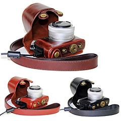 abordables Fundas-dengpin® pu bolsa de cuero caja de la cámara cubierta con correa para el hombro para gm5 panasonic lumix gm1s GM2 (colores surtidos)