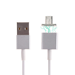 halpa -Micro USB 2.0 USB 2.0 USB-kaapelisovitin Magnetic Kaapeli Käyttötarkoitus Samsung Huawei LG Nokia Lenovo Xiaomi Motorola HTC Sony 120 cm