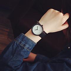 preiswerte Armbanduhren für Paare-Herrn / Damen / Paar Modeuhr Armbanduhren für den Alltag / Cool Leder Band Minimalistisch Schwarz / Ein Jahr / Tianqiu 377