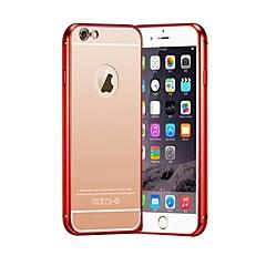 Для Кейс для iPhone 6 / Кейс для iPhone 6 Plus Покрытие / Ультратонкий Кейс для Задняя крышка Кейс для Один цвет Твердый МеталлiPhone 6s