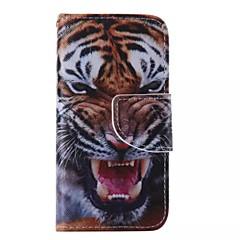Для Кейс для iPhone 5 Кошелек / Бумажник для карт / со стендом / Флип / С узором Кейс для Чехол Кейс для Животный принт Твердый
