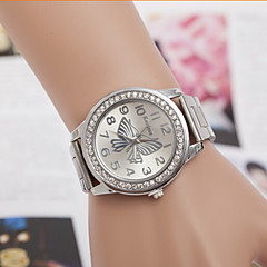 preiswerte Armbanduhren für Paare-Herrn Damen Paar Modeuhr Simulierter Diamant Uhr Quartz Designer Imitation Diamant schweizerisch Legierung Band Analog Silber / Gold / Rotgold - Gold Silber Rotgold