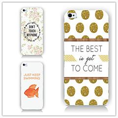 Недорогие Кейсы для iPhone 5-Кейс для Назначение iPhone 5 Apple Кейс для iPhone 5 С узором Кейс на заднюю панель Плитка Твердый ПК для iPhone SE / 5s iPhone 5