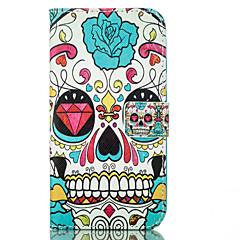 Недорогие Кейсы для iPhone 5-Назначение Кейс для iPhone 6 Кейс для iPhone 6 Plus Чехлы панели Бумажник для карт Кошелек со стендом Чехол Кейс для Черепа Твердый