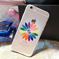 Для Кейс для iPhone 6 / Кейс для iPhone 6 Plus С узором Кейс для Задняя крышка Кейс для Цветы Мягкий TPUiPhone 6s Plus/6 Plus / iPhone