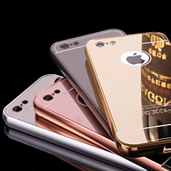 billige Etuier til iPhone 6s-For iPhone 6 etui iPhone 6 Plus etui Belægning Spejl Etui Bagcover Etui Helfarve Hårdt Metal for iPhone 6s Plus/6 Plus iPhone 6s/6
