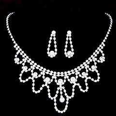 Collar / Pendiente (Aleación / Diamante Sintético)- Bonito / Fiesta para Mujer