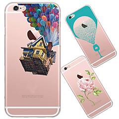 Для Кейс для iPhone 5 Ультратонкий / Полупрозрачный / С узором Кейс для Задняя крышка Кейс для Мультяшная тематика Мягкий TPUiPhone