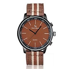 preiswerte Tolle Angebote auf Uhren-V6 Herrn Quartz Armbanduhr Schlussverkauf Stoff Band Charme Schwarz Braun