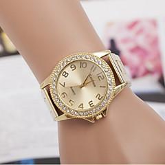 voordelige Horloges voor stellen-Heren Dames Voor Stel Gesimuleerd Diamant Horloge Dress horloge Modieus horloge Kwarts Zwitsers imitatie Diamond ontwerpers Legering Band