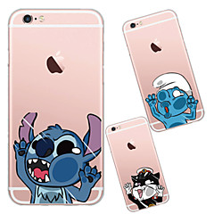 tanie Etui do iPhone 6s-Kılıf Na Apple iPhone X iPhone 8 iPhone 6 iPhone 6 Plus Przezroczyste Czarne etui Rysunek Miękkie TPU na iPhone X iPhone 8 Plus iPhone 8