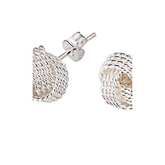 Women's Stud Earrings Bridal Elegant Costume Jewelry Silver Plated Alloy Jewelry Jewelry For Wedding Party Daily
