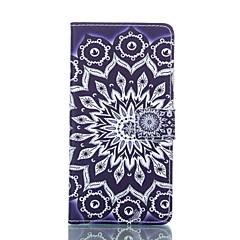 Для Кейс для Sony / Xperia Z3 Бумажник для карт / Кошелек / со стендом / Флип Кейс для Чехол Кейс для Цветы Твердый Искусственная кожа для