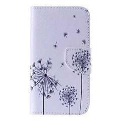 お買い得  Samsung その他の機種用ケース/カバー-ケース 用途 Samsung Galaxy Samsung Galaxy ケース カードホルダー ウォレット スタンド付き フリップ パターン フルボディーケース タンポポ PUレザー のために J5