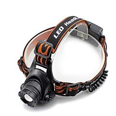 Black headlamp Hoofdlampen Koplamp LED 2000 lm 4.0 Modus Cree XM-L T6 inklusive Ladegerät Zoombare Waterbestendig Super Light Hoeklamp